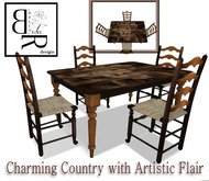 [BR] Flair Country Dinette Set