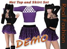 REAL FASHION Net top and skirt set - DEMO