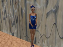 Dress Blue Mesh by Chefzicke