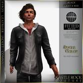 :KR: Byron Leather jacket - Black - Gray/Red