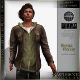 :KR: Byron Leather jacket - Brown - Brown/Olive
