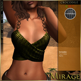 =Mirage= Animal Skin Wrap Tops DEMO (wear & touch)