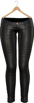 Blueberry - Rene Mesh Leather Pants - Maitreya/Belleza/Slink - Black