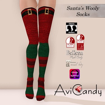 AVICANDY Santas Wooly Socks
