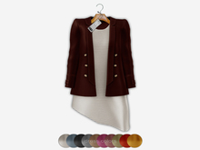 Bens Boutieque - Blazer&Dress Set Burgundy