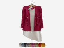 Bens Boutieque - Blazer&Dress Set Magenta