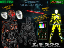 [Cyber Skeleton] Fitted mesh suit w/ 2 masks, working katana HUD to control every parameter