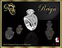 RJ Mesh Reign Ring (Platinum)