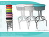 BWish - Vintage Bar Stool Mesh - 10 Colors Full Permissions