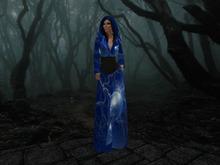 Magic Gown Cape Cloak with black Hair
