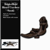 Country Couture Snake Skin Short Cowboy Boots