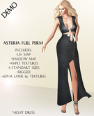 Asteria Full Perm - Giovanni Long Dress With Ribbon - DEMO