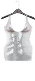 #Addiction-Sequin Dress[White]