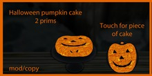halloween pumpkin cake  2 prims