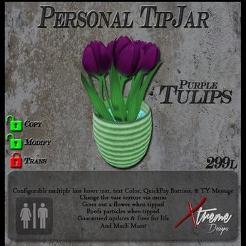 Purple Tulips (Stripes) TipJar