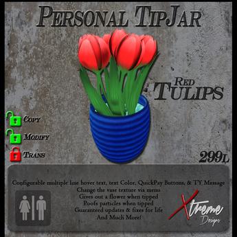 Red Tulips (Stripes) TipJar