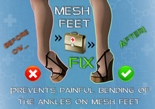 Mesh Feet heel FIX for ankles shoes (maitreya, TMP, slink, belleza compatible)