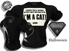Aesthetic - Fitted Mesh Halloween Ima cat