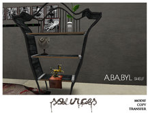 """""""ABABYL"""" Shelf BLACK (Décoration included) by """"Sources""""  PG - MESH - BOX - Copy"""