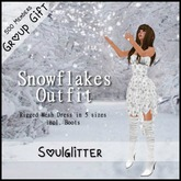 GIFT *Soulglitter* Snowflakes Outfit