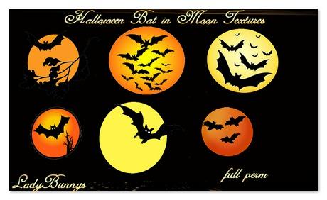 **How About That....Texture!**Halloween Bat Moon Textures {Full Perm Element Textures}
