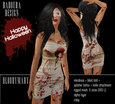 BD-BloodyMary mesh dress Halloween gift 2015
