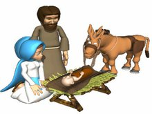 animated nativity scene