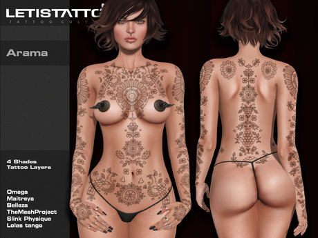 Letis Tattoo :: Arama :: Tattoos Bakes On Mesh & Legacy Maitreya and more Appliers