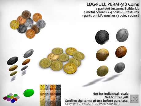 LDG-FULL PERM 918 Coins /2 parts/16 textures/Builderkit