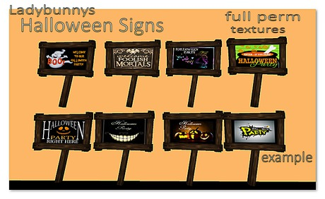 **How About That....Texture!**  Halloween Party Sign Textures {Full Perm Textures}