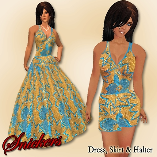 *Snickers* - Chinette in Blue & Gold