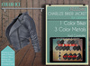 Addams - Leather Jacket Biker Mesh Collection Charlize - Ice