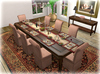 Dinner Party Dining for 8: Contemporary Distressed/ Fawn Linen