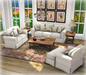 White Roll Arm and Distressed Wood Mesh Living Set