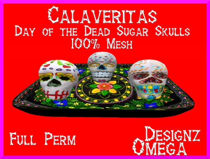 Sugar Skulls 100% Mesh Full Perm
