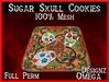 Sugar Skull Cookies 100% Mesh Full Perm