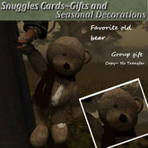 Favorite old bear v15 By Snuggles Group gift