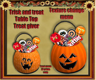 Trick or treat bucket ( table top ) Texture change and treats