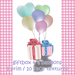 Letter giftbox and 6balloon 03