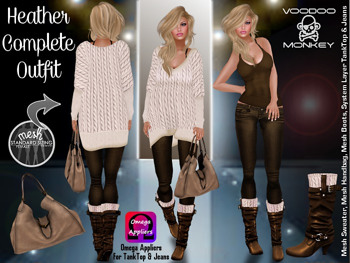 Heather - Boyfriend Sweater Complete Outfit ::VoodooMonkey::