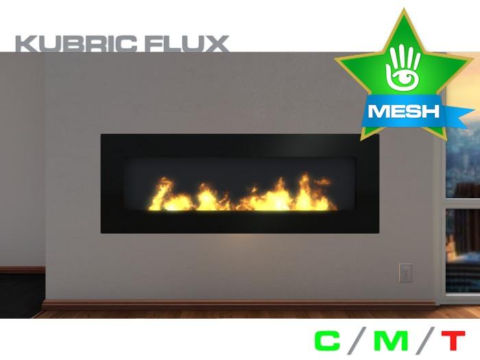 KUBRIC FLUX - Wide Fireplace 01 - Black Steel