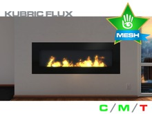 KUBRIC FLUX - Wide Fireplace 01 - Black Steel