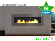 KUBRIC FLUX - Wide Fireplace 01 - 2 Versions - Pack 01