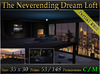 The Neverending Dream Loft v2 *Fully Furnished* Urban Loft Skybox - Mesh