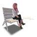 Mesh old garden chair whiteblue s01 basteth