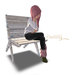 Mesh old garden chair whiteblue s03 basteth