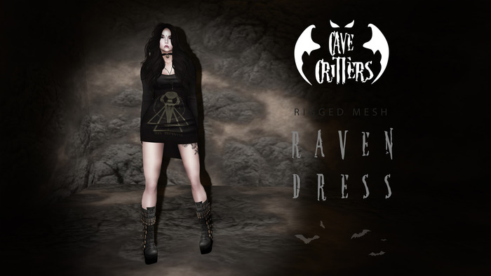 .:CAVE CRITTERS:. - RAVEN DRESS
