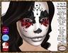 Delizio - La Dia De los Muertos Face paint MESH HEAD HUDS , appliers for : Slink Visage, Omega, & SKing DaFace