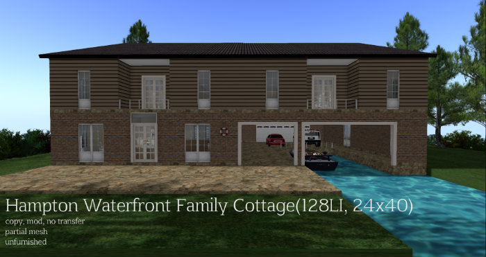 Hampton Waterfront Family Cottage(128LI, 24x40)