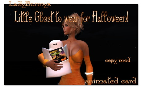 ~Hauntingly Halloween~Little Ghost to wear for Halloween!